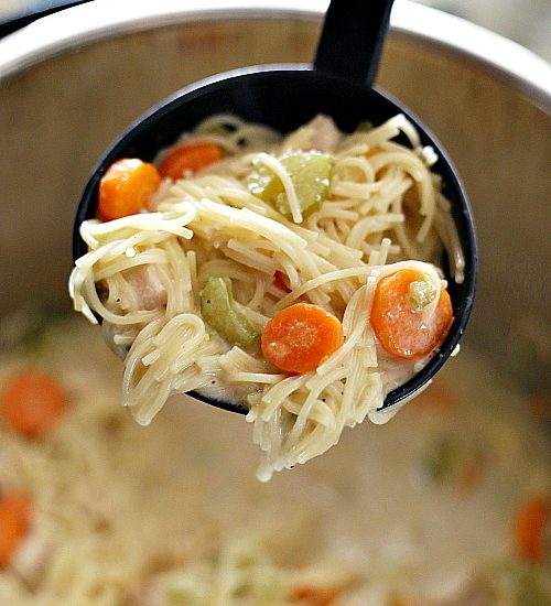 chicken noodle soup in the instant pot