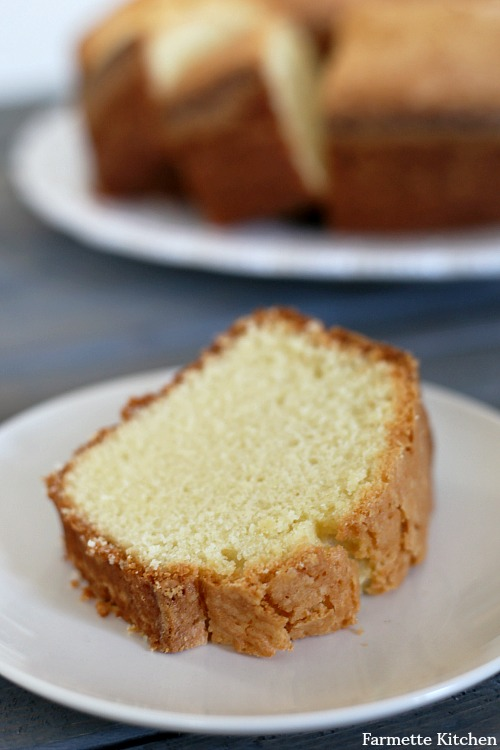 slice of pound cake