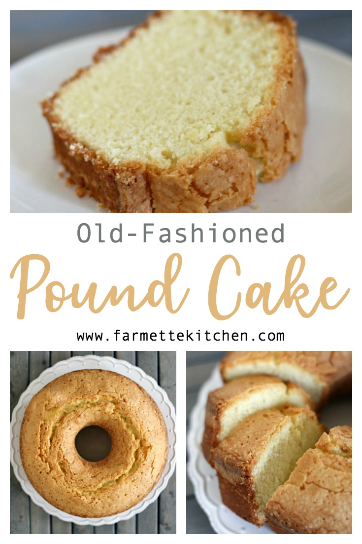 This Old Fashioned Pound Cake recipe is one my mother made often throughout my childhood. Dense and buttery, this traditional pound cake is the perfect blank canvas for a fruit glaze or whipped topping.