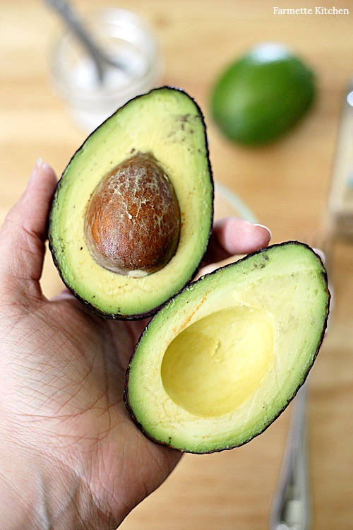perfect halved avocado
