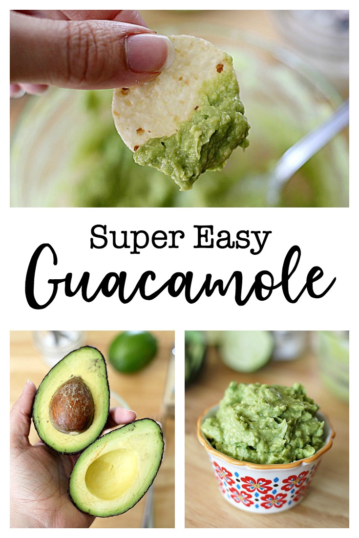 Transform avocados into the perfect, easy guacamole with only a little fresh lime juice, garlic powder, and salt.  This no-frills guacamole recipe is one that I go back to over and over again.  Perfect with chips or added to a burger!