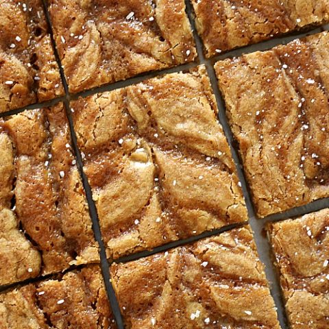 Best Ever Salted Caramel Blondies