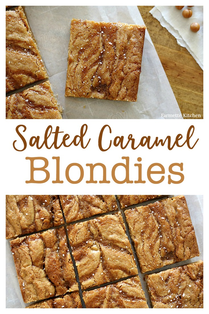These Salted Caramel Blondies truly are the best ever. Not only do they taste amazing, but the recipe is incredibly easy (no need to soften butter or use a stand mixer). I've yet to meet someone that didn't like them!