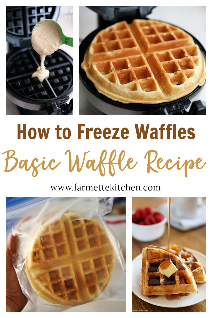 Use this Basic Waffle Recipe to stock your freezer with homemade frozen waffles. No buttermilk required, no need to whip the egg whites, just a few simple ingredients and you will never buy store-bought frozen waffles again!