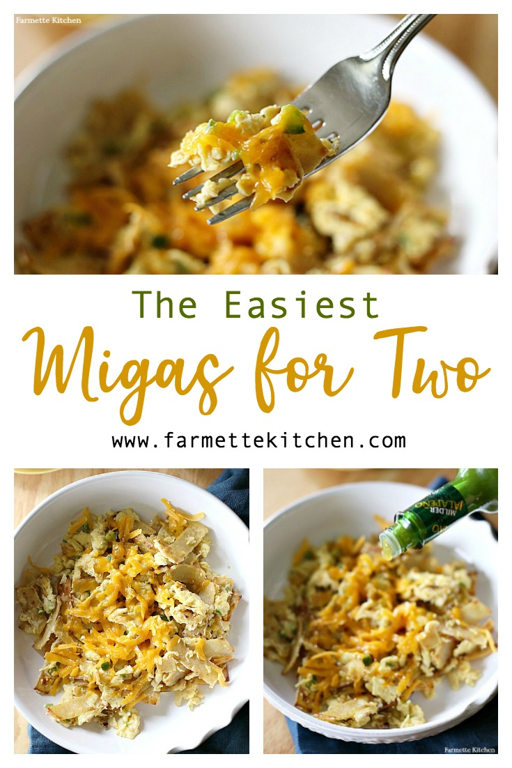 Bring the delicious flavors of restaurant quality migas into your kitchen with this easy Migas for Two recipe. Top with chunky salsa, ripe avocado, and crumbled queso fresco for the perfect breakfast, brunch, or dinner meal.