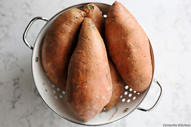 bowl of sweet potatoes