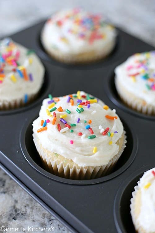 Vanilla Buttercream Frosting Recipe made with simple ingredients that can be piped or easily spread with a knife. This smooth and creamy buttercream sets up nicely and crusts slightly, making it perfect for base layers and decorating.