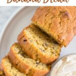 Pumpkin Banana Bread made with ripe bananas and pumpkin puree. This simple recipe makes five mini loaves that are super moist and full of soft pumpkin flavor.