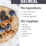 Instant Pot Oatmeal Recipe made in just four minutes of cook time using Old-Fashioned (rolled oats). This creamy oatmeal can be easily dressed up with your favorite toppings and sweeteners.