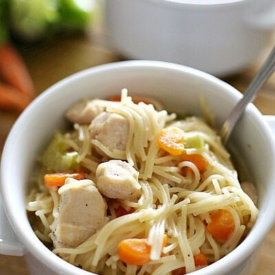 Creamy Chicken Noodle Soup (Instant Pot)