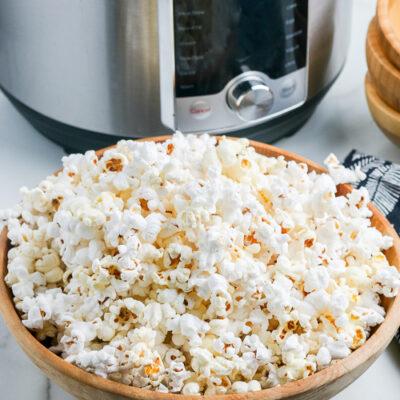 popcorn next to an Instant Pot