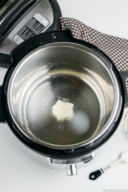 coconut oil in an Instant Pot