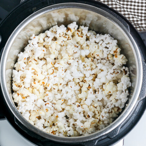 Instant Pot popcorn without the lid