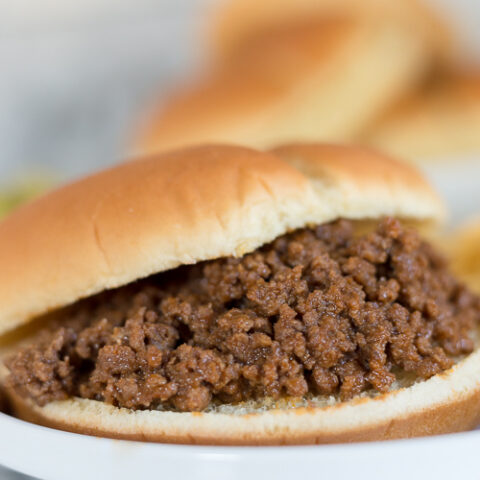 sloppy joe on a bun