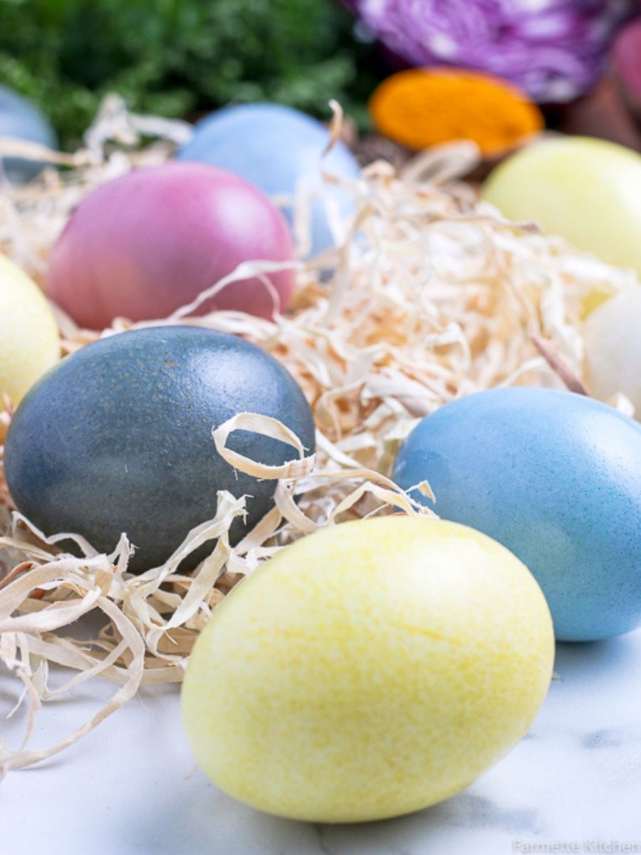 Natural Dyed Eggs using real, whole food ingredients. Swap the artificial colors and harsh dyes for things like spices, fruits, and vegetables.