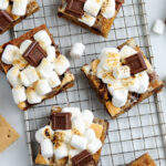 smores bars on a wire rack