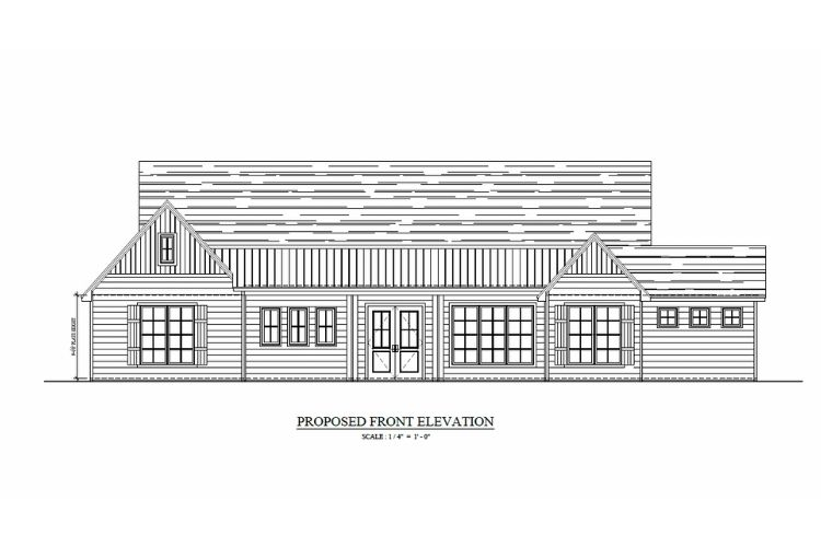 exterior schematics of a home